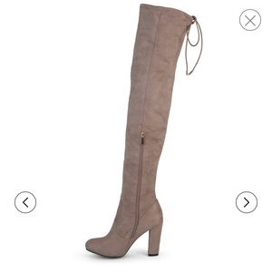Shoes - Taupe thigh high boots